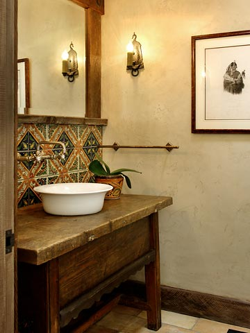 Historic Rancho Style Powder Room