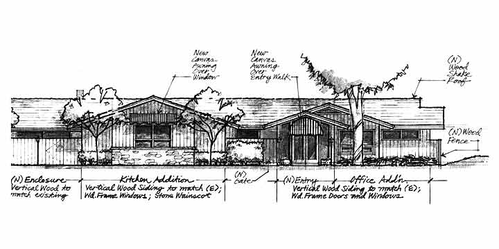 Tennis & Swimming Club, Elevation Drawing